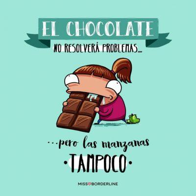 frases irónicas sobre chocolate