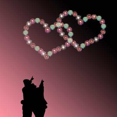 corazones de buenas noches
