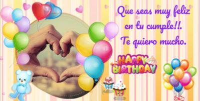 feliz cumpleaños de amor