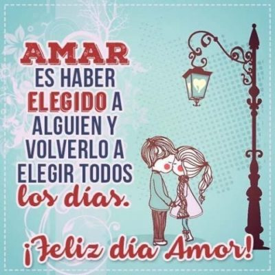 feliz dia del amor para ti